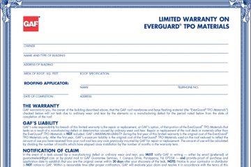 GAF TPO Warranty